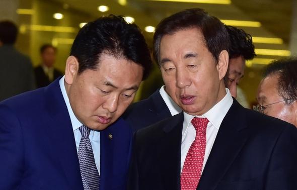머리 맞댄 김성태-김관영