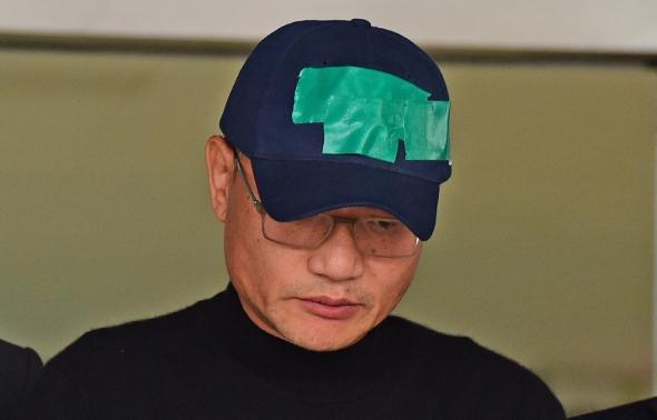 고개 숙인 양진호 회장