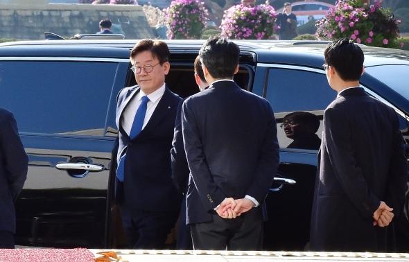 국회 도착한 이재명 경기지사