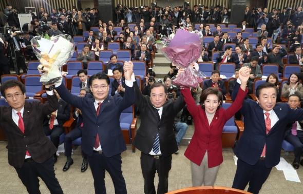 자유한국당 신임 원내대표에 나경원 선출