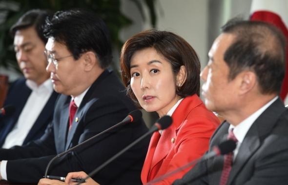 발언하는 나경원 자유한국당 원내대표