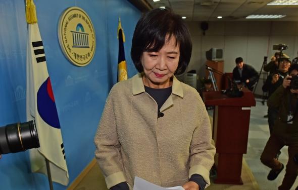 손혜원 '씁쓸한 표정'