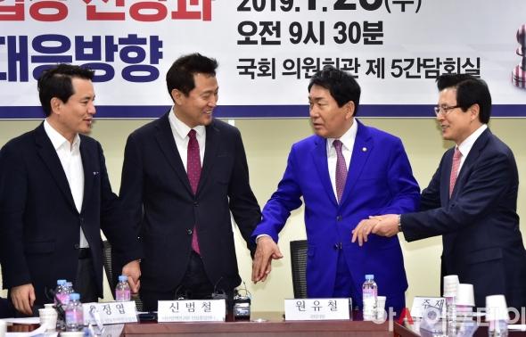 손잡는 황교안-오세훈-안상수-김진태