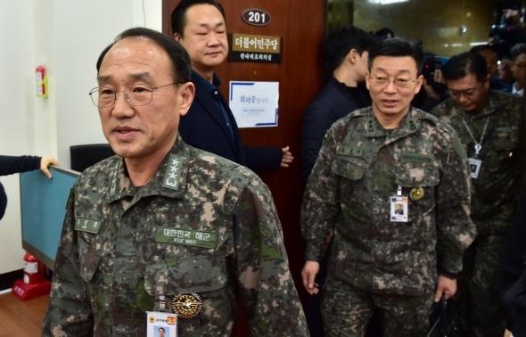 '日 초계기 근접비행 보고' 더불어민주당 찾은 합참