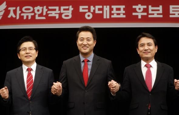 황교안-오세훈-김진태 자유한국당 당 대표 후보