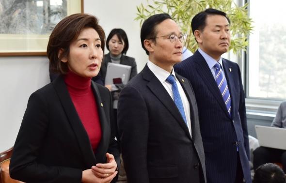 홍영표-나경원-김관영 여야 3당 원내대표 회동