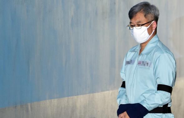 '드루킹' 김동원 항소심 첫 재판 출석