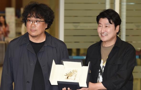 봉준호-송강호, 황금종려상 금의환양
