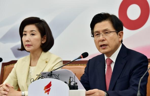 황교안 대표 '교과서 수정은 국기문란'