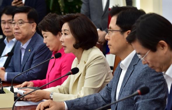 나경원 '조국 반대 여론...입진보에 대한 탄핵'