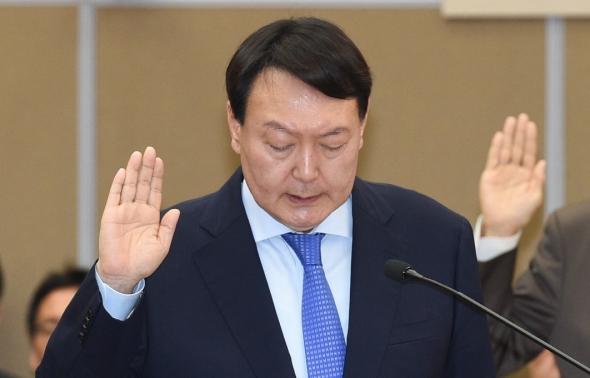 국감 증인선서하는 윤석열 검찰총장