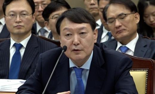 """윤석열 """"한겨례 접대의혹 보도, 사과 받아야겠다"""""""