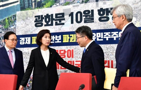 민갑룡 경찰청장-이태호 외교부 차관 만난 나경원