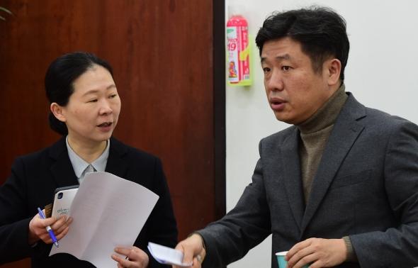 유의동-권은희 단장, 신당기획단 첫 회의