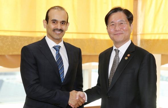 성윤모 산업부 장관, 카타르 에너지부 장관과 면담