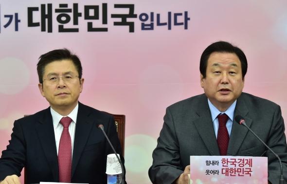최고·중진의원 연석회의 발언하는 김무성