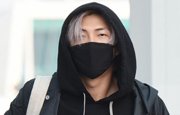방탄소년단 RM, '눈 인사'