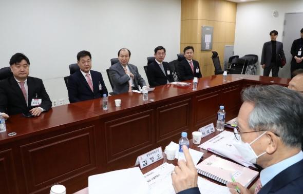 황교안 대표 '미래통합당 공천 면접'