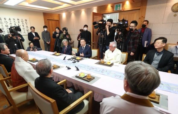 종교계 지도자들 만난 박원순 시장