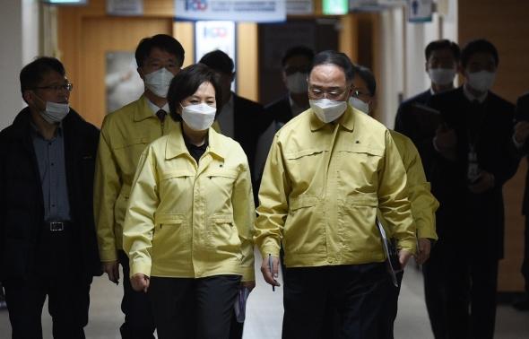 '마스크 수급 안정 관련' 긴급 합동브리핑