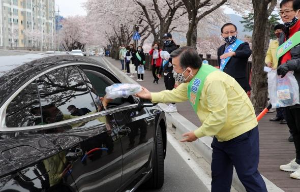 박일호 밀양시장, 사회적 거리두기 캠페인