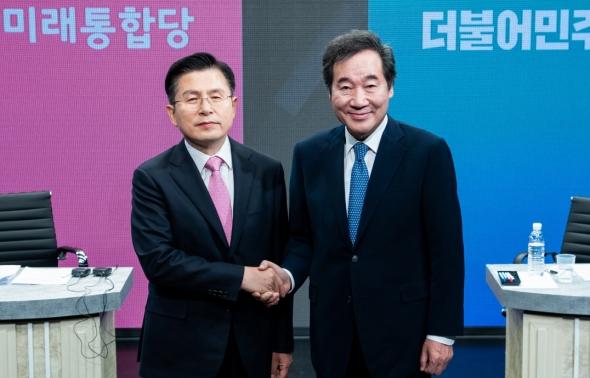 이낙연-황교안 '4.15 총선 첫 양자 토론'