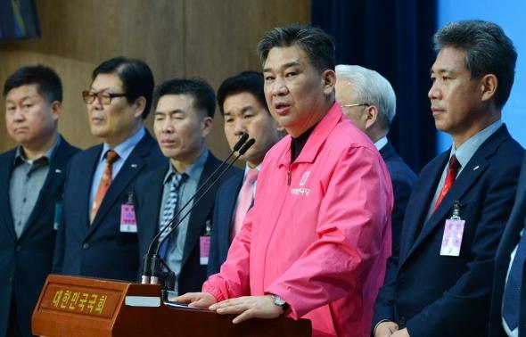 기자회견 갖는 최승재 미래한국당 비례대표 후보