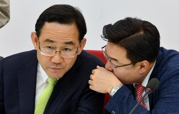 논의하는 주호영-김성원