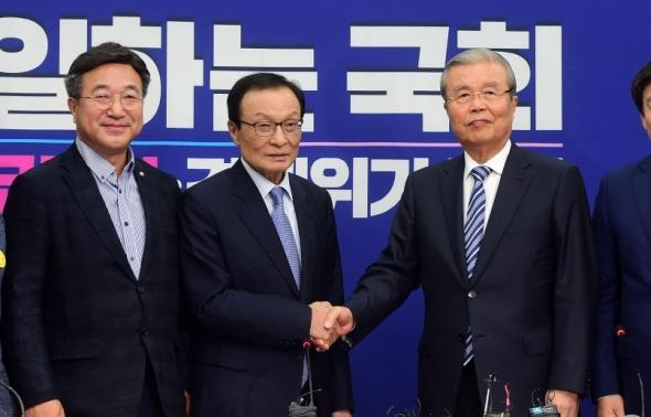 이해찬 대표 찾은 김종인 비대위원장