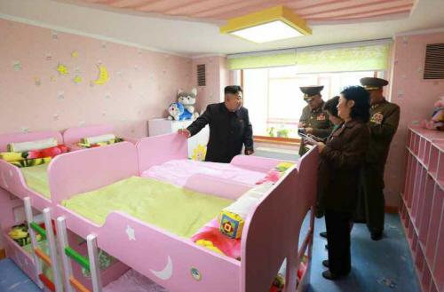 北김정은, 평양 육아원 애육원 현지지도