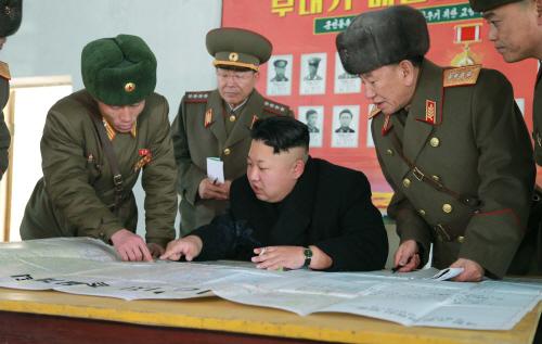 북한 김정은 정찰총국 부대 시찰
