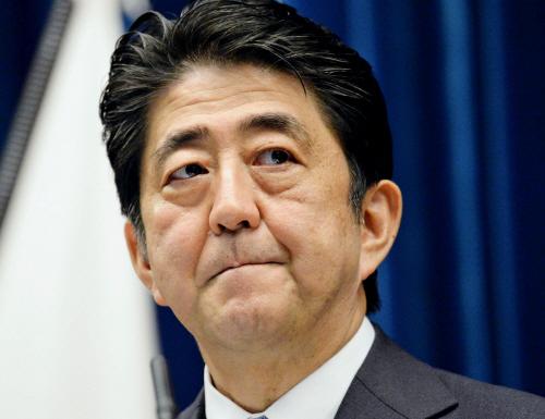 전후 70년 담화 발표하는 아베 일본 총리