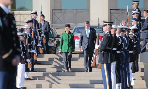 펜타곤 방문한 박 대통령