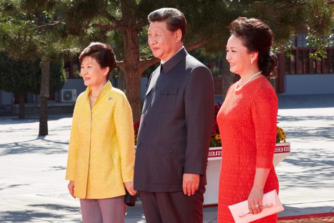 박 대통령, 시진핑 주석 내외와 기념촬영