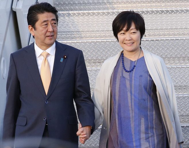 Japan First Lady School Scandal <YONHAP NO-4522> (AP)
