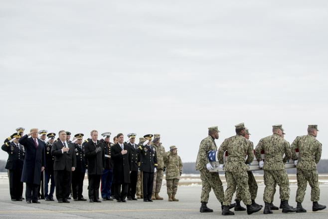 APTOPIX Trump Syria Casualty Return
