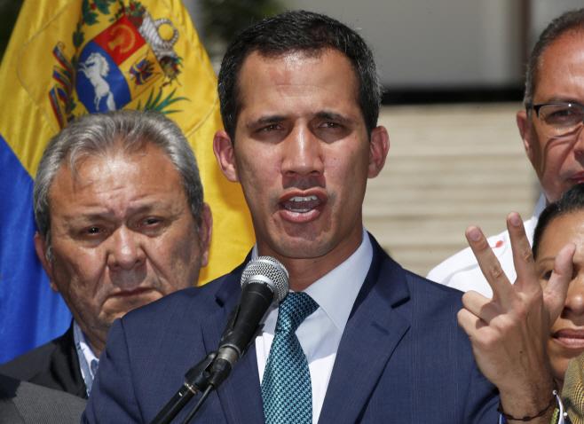 Venezuela Political Crisis <YONHAP NO-0413> (AP)