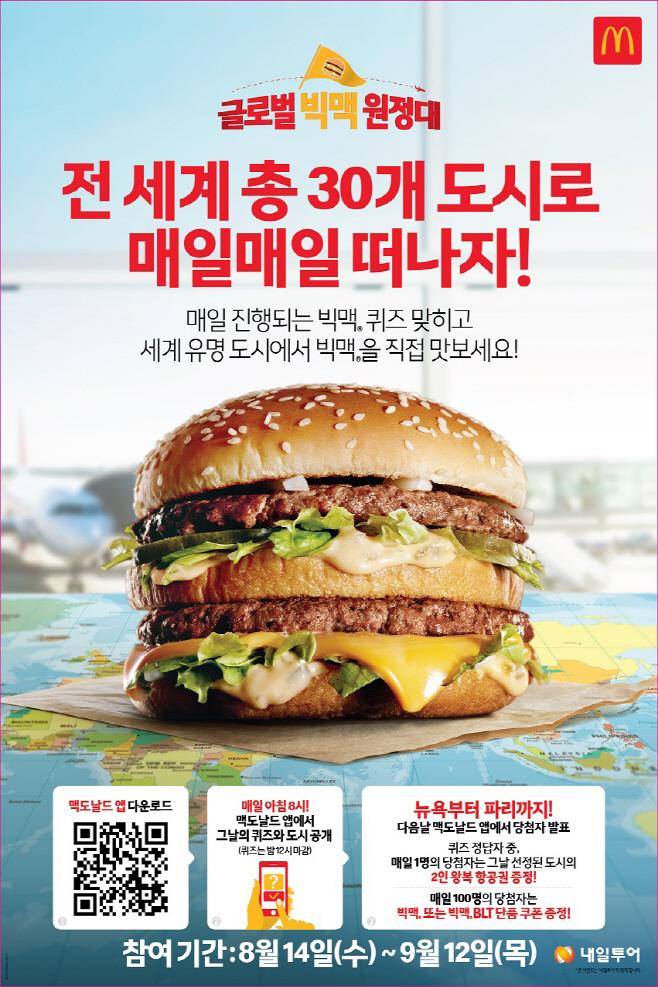 [사진] 맥도날드, 글로벌 빅맥 원정대 이벤트 진행