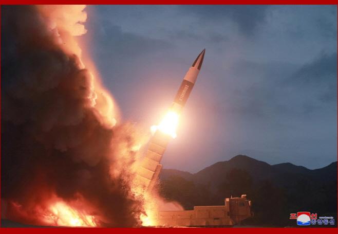 북한 10일 함흥 발사체 발사 장면 공개