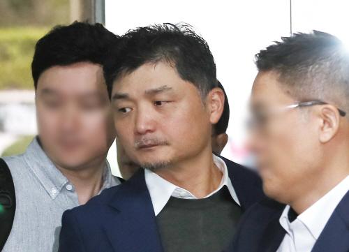 김범수 카카오 의장, 2심 재판 출석<YONHAP NO-2117>