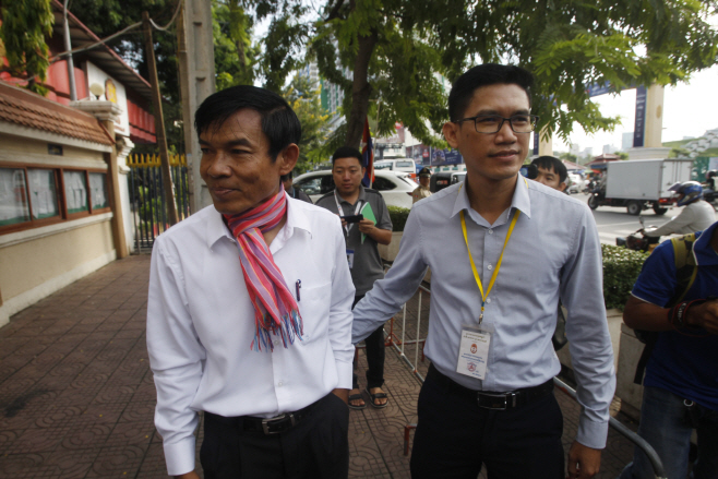 Cambodia Press Freedom <YONHAP NO-4482> (AP)