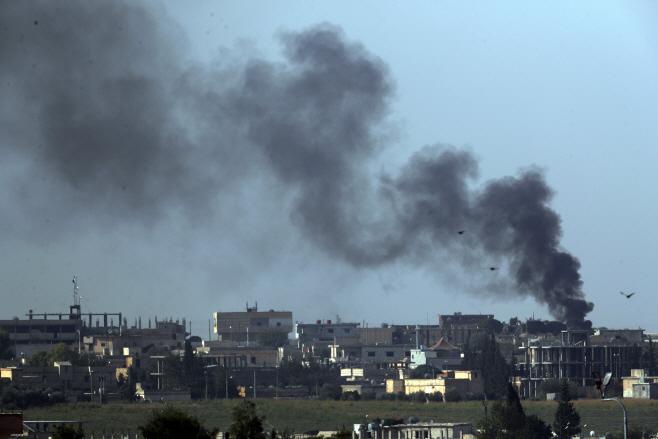 터키군 공격 받은 시리아 국경도시