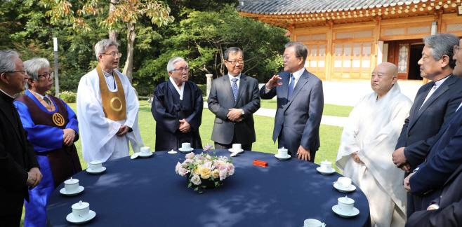 문 대통령, 종교지도자들과 간담회