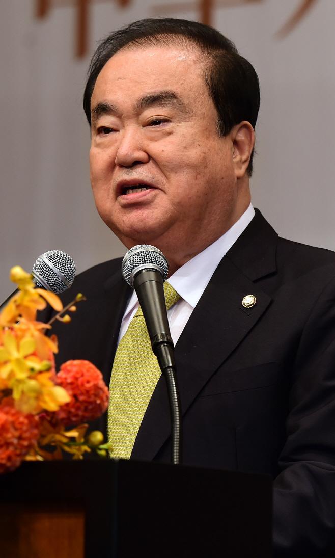 [포토] 중화인민공화국 창립70주년 축사하는 문희상 의장
