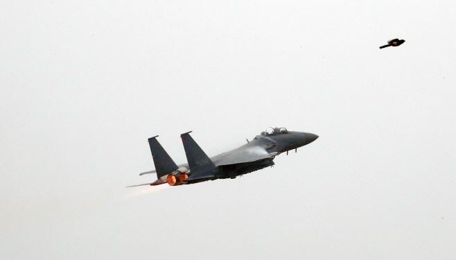 국군의 날 비행하는 F-15K<YONHAP NO-2267>