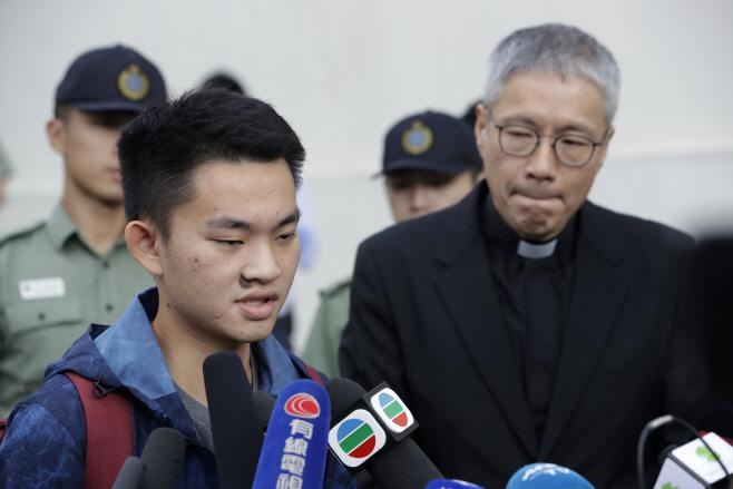 Hong Kong Taiwan Murder Suspect <YONHAP NO-2110> (AP)