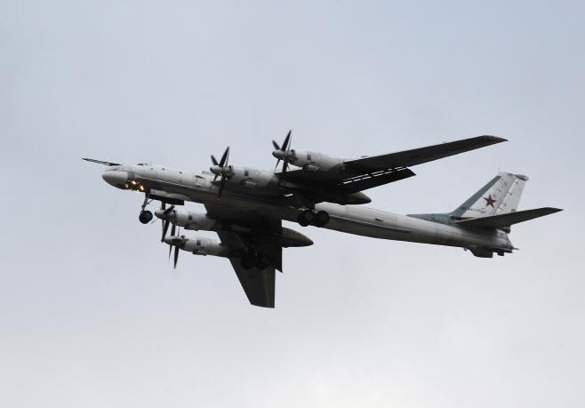 우리 영공 침범한 러시아 군용기 'TU-95'<YONHAP NO-3314>