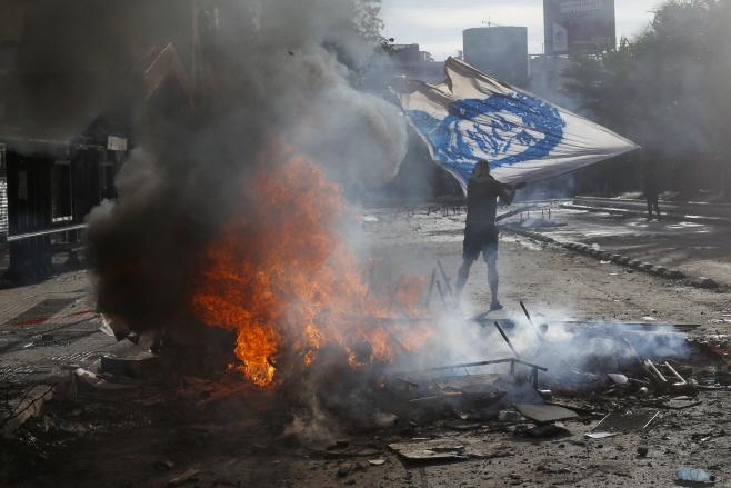 Chile Protests <YONHAP NO-1595> (AP)