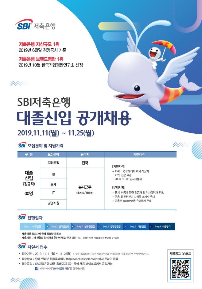 SBI저축은행 2019년 대졸신입 및 신입텔러 공개채용
