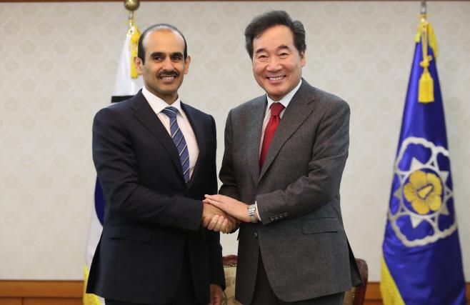 이낙연 총리, 카타르 에너지 담당 국무장관 접견